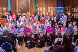 Participants in the first (pre Covid restrictions) Rising Voices performance at the Mansion House Dublin