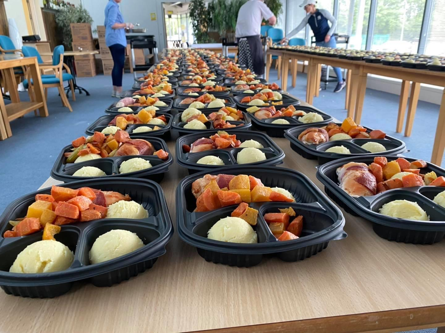 Volunteers at Meals on Wheels Tralee prepare the meals ahead of delivery to the clients.