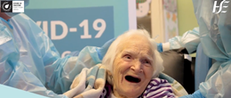 101 year old Sarah Madden receives vaccine