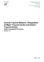 Trauma: Public Consultation Document front page preview