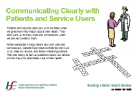 Communicating Clearly leaflet front page preview