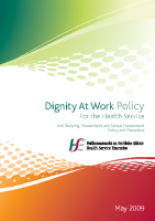 Dignity at work policy 2009 front page preview