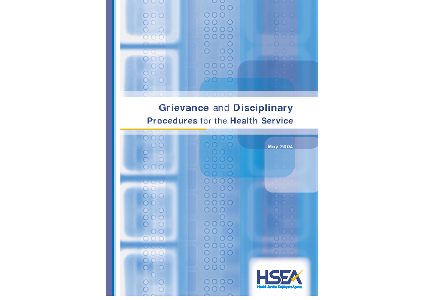 Grievance and Disciplinary Procedure 2004 front page preview