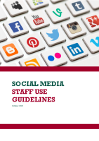 Social Media Staff Use Guidelines front page preview