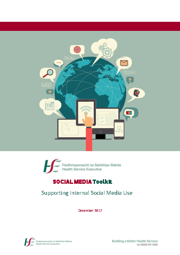 Social Media Toolkit - Supporting internal social media use Dec 2017 front page preview