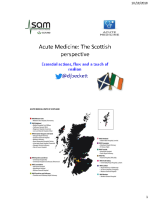 Dr Daniel Beckett Acute Medicine The Scottish Perspective front page preview