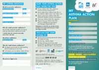 My Asthma Action Plan Asthma Society of Ireland front page preview