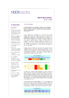 Intensive Care Unit Bed Information NOCA Newsletter June 2020 front page preview