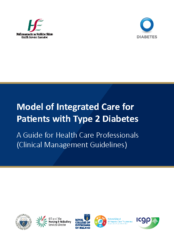 Model of Integrated Care Type 2 Diabetes 2018 front page preview