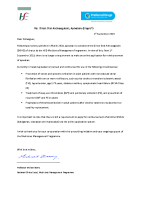 Letter to prescribers and pharmacists in relation to the removal of the online application requirement for Apixaban September 2019 front page preview
