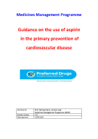 Guidance on the use of aspirin in the primary prevention of cardiovascular disease front page preview