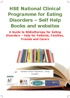 NCPED A guide to bibliotherapy for eating disorders front page preview