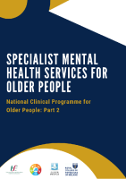 Specialist Mental Health Services for Older People Model of Care front page preview