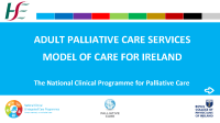 NCP Palliative Care Model of Care 2019 front page preview