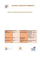 Lab Testing for Hyperprolactinaemia front page preview
