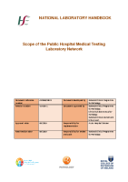 Scope of the Public Hospital Laboratory Network front page preview