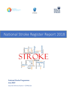 2018 National Stroke Register Report front page preview