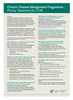 Chronic Disease Privacy Statement front page preview