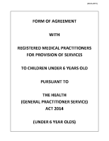 Under 6's GP Contract front page preview
