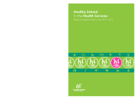 Healthy Ireland in the Health Services Implementation Plan 2015-2017 front page preview