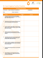 hand hygiene check list front page preview