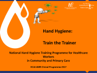 Hand hygiene Train the Trainer Presentation Programme front page preview