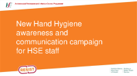 New Hand Hygiene awareness and communication campaign for HSE staff front page preview