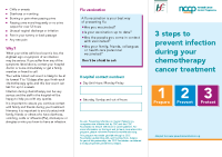 3 Steps to prevent infection during your chemotherapy cancer treatment front page preview