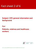 Fact sheet 2: CPE general information and background  front page preview