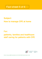 Fact sheet 5: How to manage CPE when you are at home  front page preview