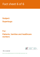 Fact sheet 6: Superbugs  front page preview