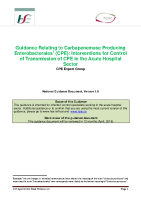 Interventions for Control of Transmission of CPE in the Acute Hospital Sector front page preview