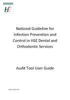 National Guideline for Infection Prevention and Control in HSE Dental and Orthodontic Services Audit Tool User Guide front page preview