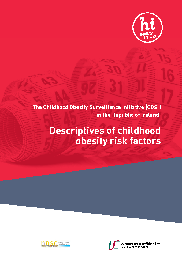 COSI Descriptives of Childhood Obesity Risk Factors, 2016 front page preview