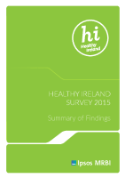Healthy Ireland Survey 2015 Summary of Findings front page preview
