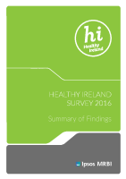 Healthy Ireland Survey 2016 Summary of Findings front page preview