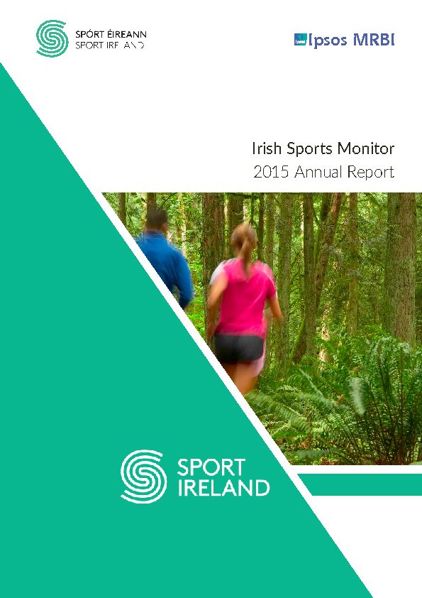 Irish Sports Monitor Annual Report 2015 front page preview