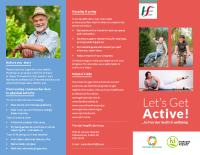 Let's Get Active Leaflet front page preview