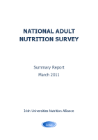National Adult Nutrition Survey Summary Report March 2011 front page preview