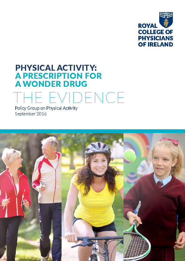 Physical Activity: A Prescription for a Wonder Drug, RCPI 2016 front page preview