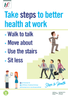 Steps to Health Challenge Better Health at Work Poster front page preview