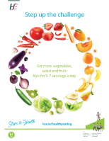 Steps to Health Fruit & Veg Poster front page preview