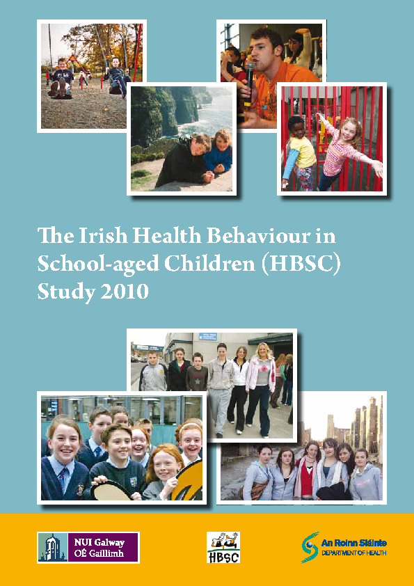 The Irish Health Behaviour in School-aged Children (HBSC) Study 2010 front page preview