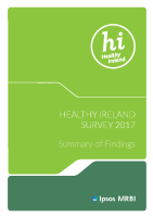 Healthy Ireland Survey 2017 Summary of Findings front page preview