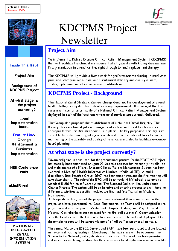 KDCPMS Newsletter August 2010 front page preview