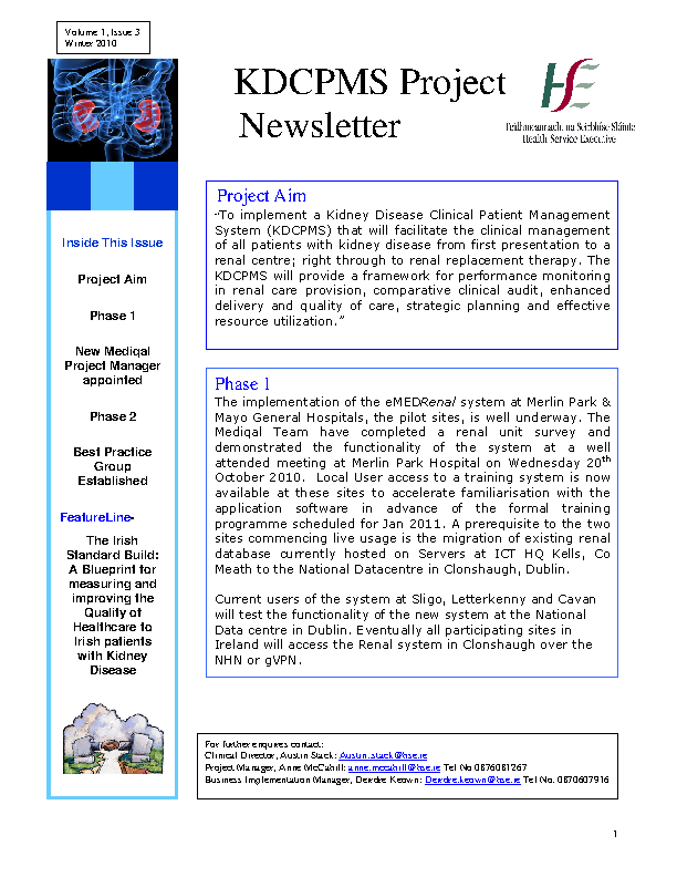 KDCPMS Newsletter December 2010 front page preview