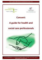 Consent guide health social care professionals 240414 front page preview