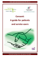 Consent A guide for patients and service users front page preview