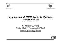Application of the ENSH Model in Irish Health Service front page preview