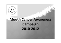 Mouth Cancer Awareness Campaign 2010 to 2012 front page preview